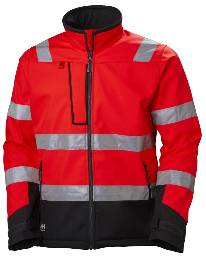 3a230d6db4d Helly Hansen ALNA softshell HI VIS CL2,punane/must - Helly Hansen ...