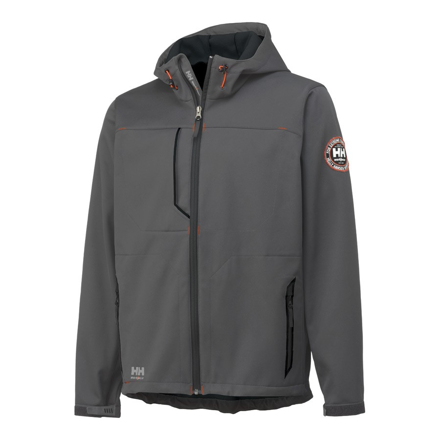 2c63f6b1be0 Helly Hansen LEON kapuutsiga softshell jakk, hall - Helly Hansen ...